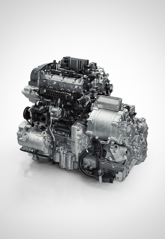 [009] - 3-cyl Engine + Gearbox Hybrid Front